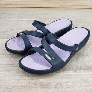 CROCS Patricia Women's Blue/Lavender Slides